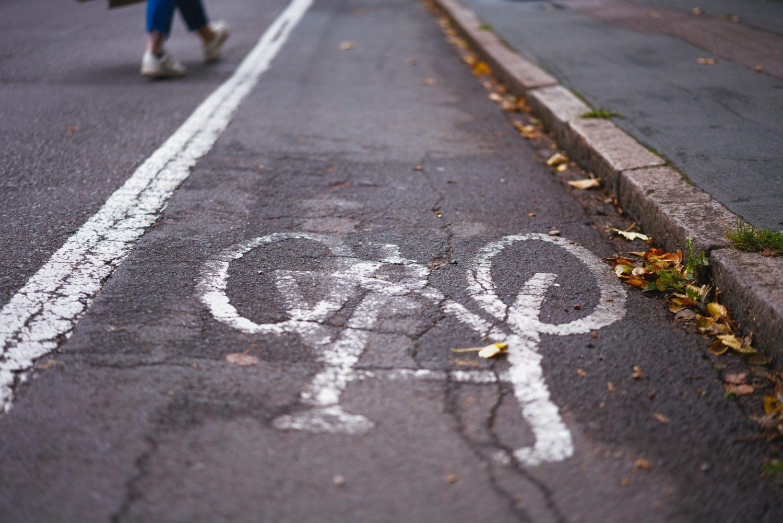 Radwege als Symbol für nachhaltige Mobilität