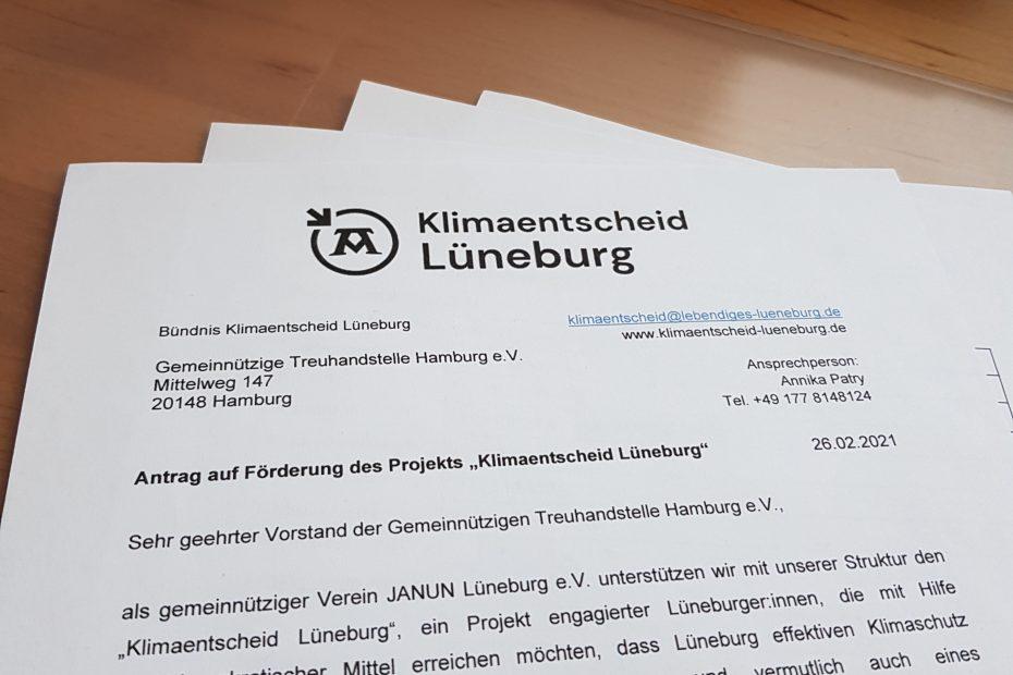 Anschreiben zum Förderantrag für Stiftungen